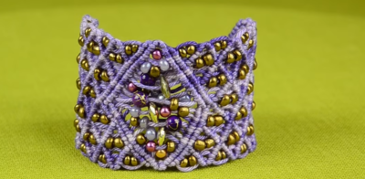 Macrame Bursting Firework Cuff Bracelet