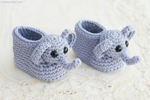Elephant Booties Crochet Pattern   AllFreeHolidayCrafts.com