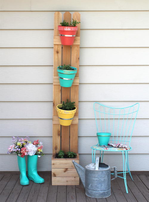Vertical Herb Garden Project
