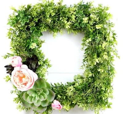 Succulent Boxwood Wreath