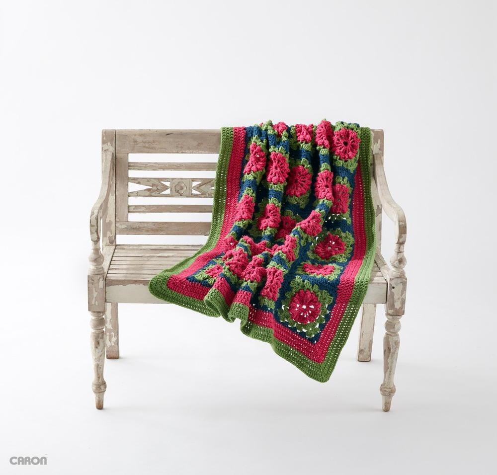 Petal Pops Blanket | AllFreeCrochet.com