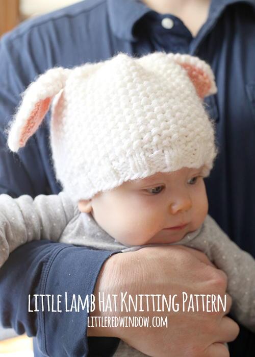 Loom Knit Baby Boy Hats Name Badge