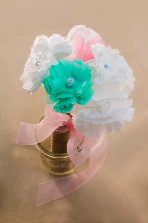 Coffee Filter Bouquet | FaveCrafts.com