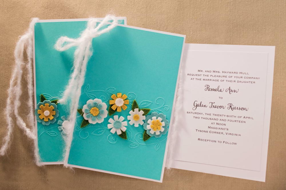 Embossed DIY Wedding Invitations and Programs | AllFreePaperCrafts.com