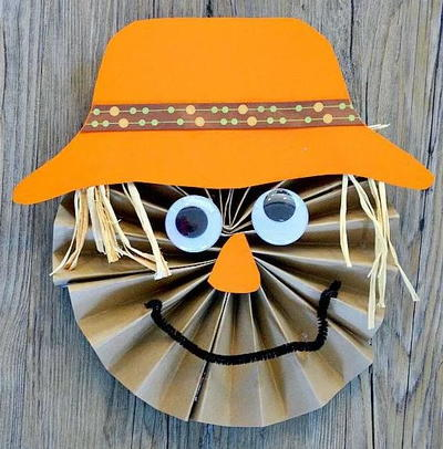 Paper Scarecrow Craft for Kids