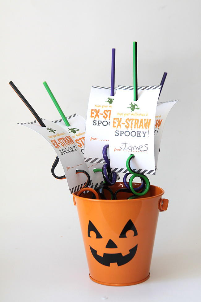 Spooky Straw Printable Labels