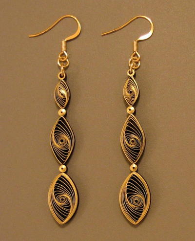 Quilled Gilded Earrings