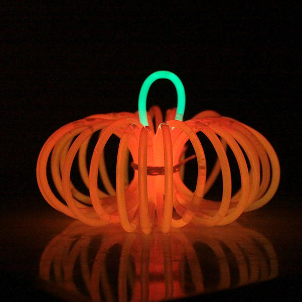 Glow Stick DIY Pumpkin
