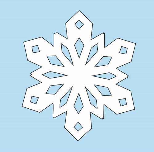 snowflakes template pdf - Engne.euforic.co