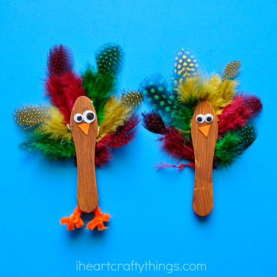 Turkey Popsicle Stick Crafts for Kids