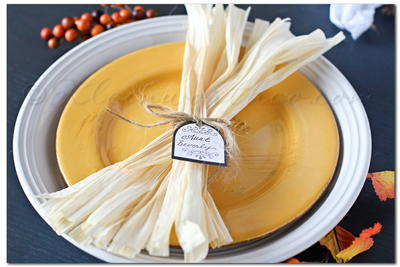 Corn Husk Fall Table Setting Ideas