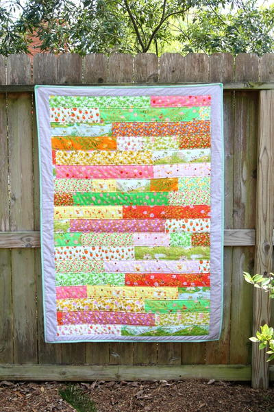 Briar Rose Strip Quilt Tutorial