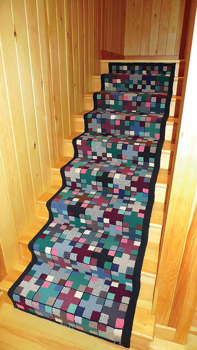 Each Summer Since 2003, The Wood Staircase In Our Summer Fishing Cabin In  Northeastern New Brunswick Beckoned Me To Create A Runner That Would Tell A  Story ...