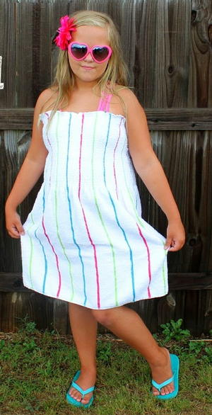 Beach Towel Dress Tutorial