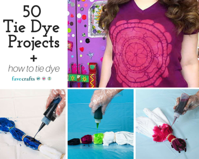 50 Tie Dye Craft Projects and How to Tie Dye