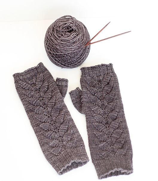 Slate Gray Fingerless Gloves