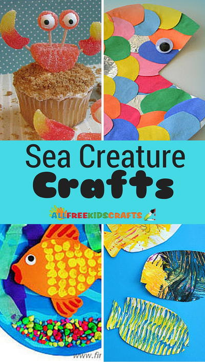 15 Sea Creature Crafts for Kids