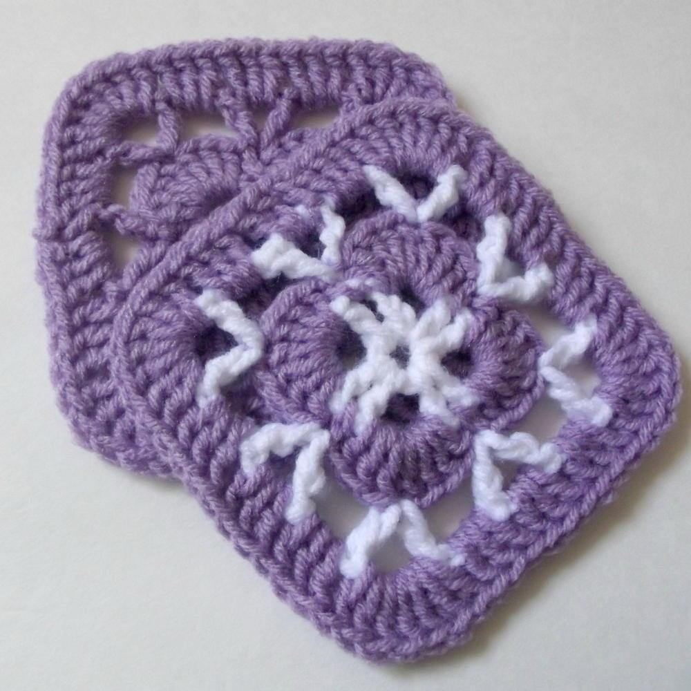 Crochet Patterns Afghan Squares : Easy 5