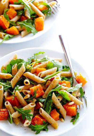 5-Ingredient Butternut Squash and Arugula Pasta