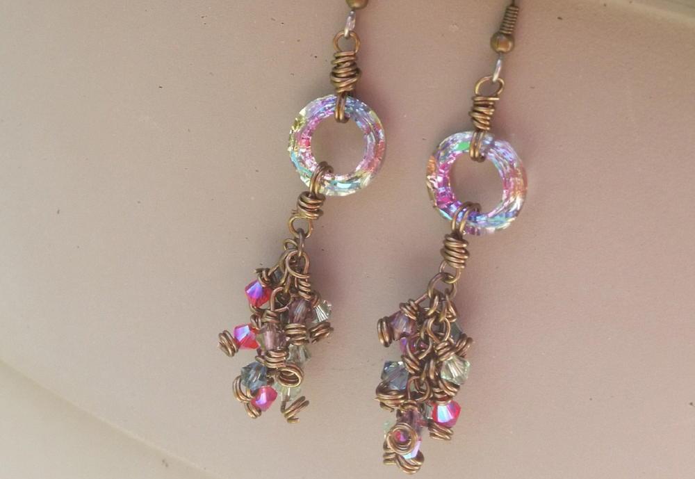 Galactic Circle Diy Earrings Allfreejewelrymaking Com