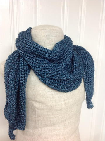 Blue Steel Knit Scarf