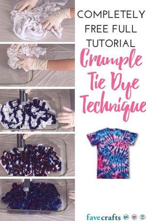 Swirl Tie Dye Technique Favecrafts