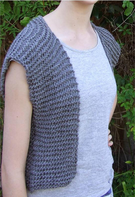 Moonstone Beginner Vest Pattern | AllFreeKnitting.com