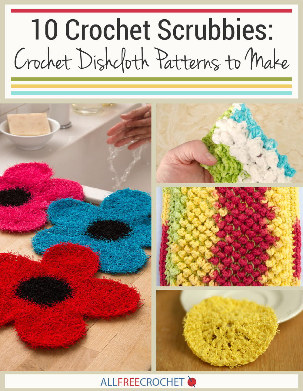 10 Crochet Scrubbies: Crochet Dishcloth Patterns to Make ...