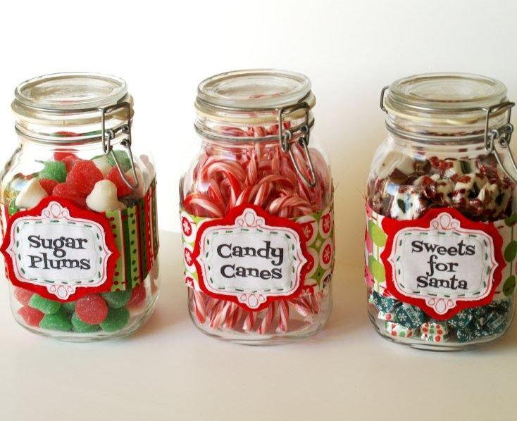 christmas candy jar labels allfreechristmascraftscom
