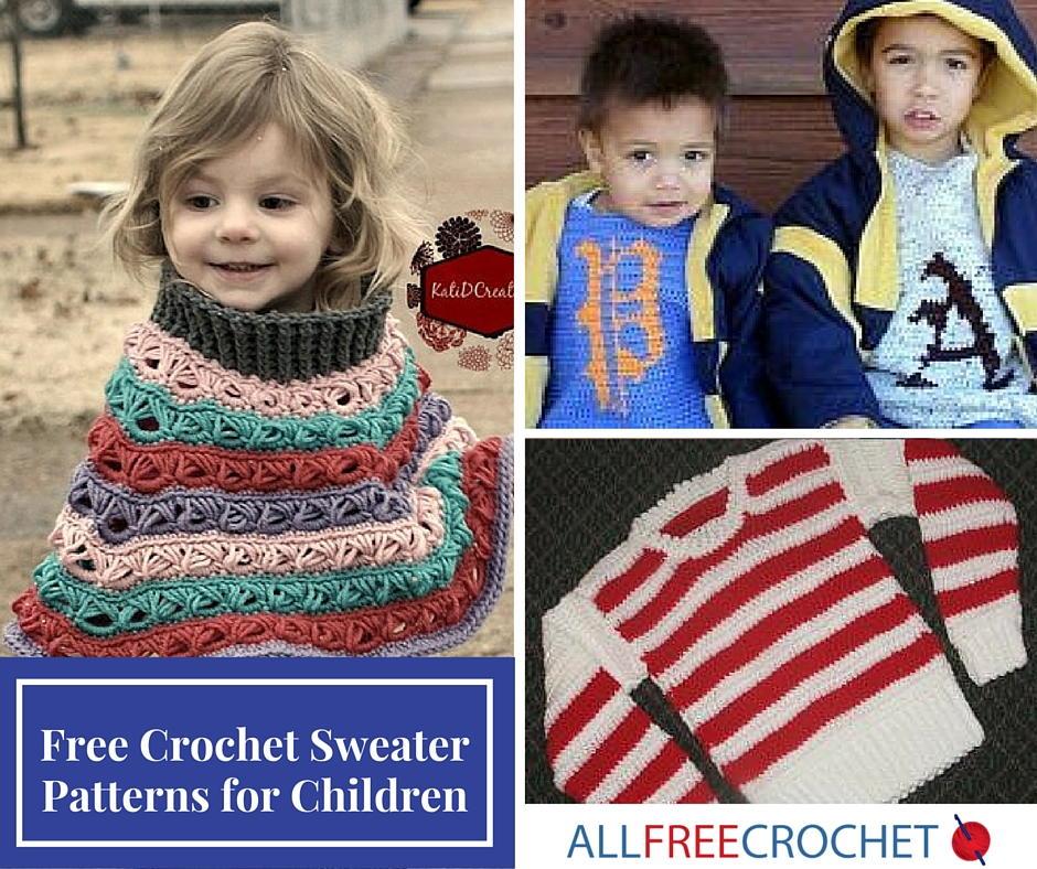 15 Free Crochet Sweater Patterns for Children | AllFreeCrochet.com
