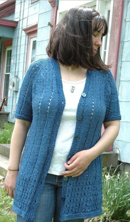 Eyelet Cardigan Knitting Pattern Allfreeknitting