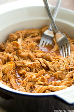 2-Ingredient Slow Cooker Pulled Chicken