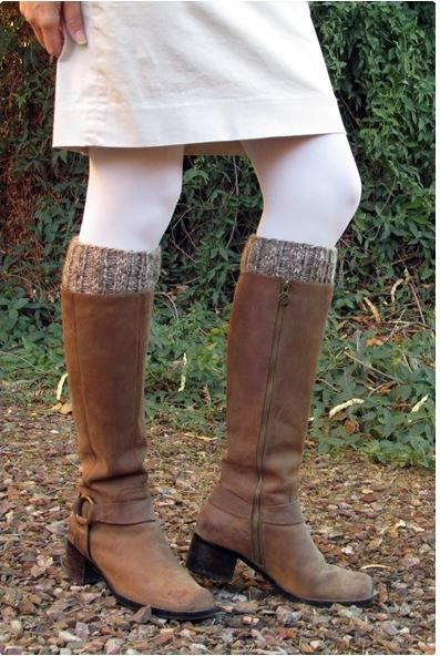 Easy Double Sided Boot Cuffs Allfreeknitting
