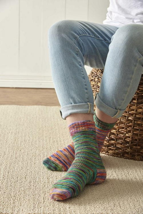 Rainbow Sherbet Sock Pattern Allfreeknitting