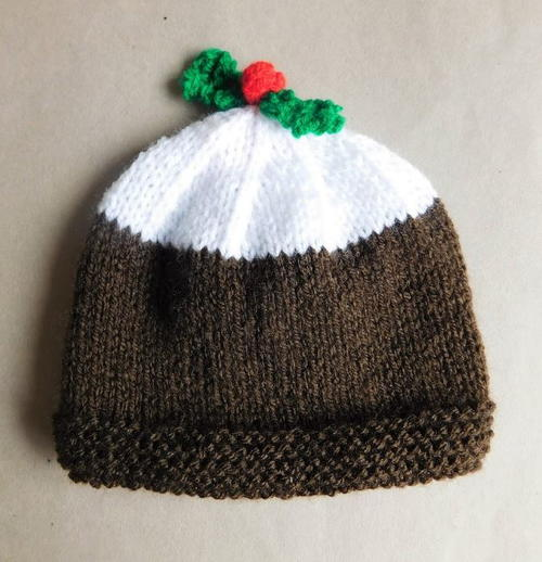 Christmas Pudding Baby Hat Allfreeknitting