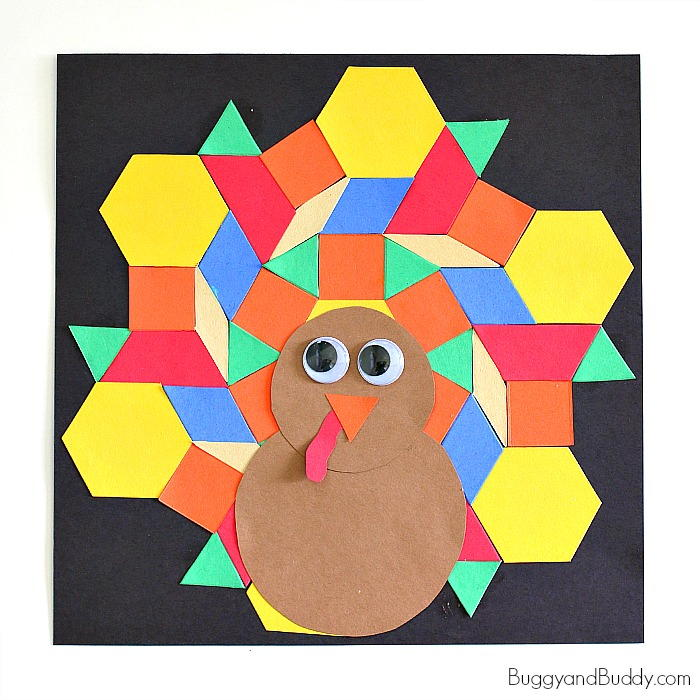 Mosaic Turkey Paper Craft For Kids Allfreekidscrafts Com