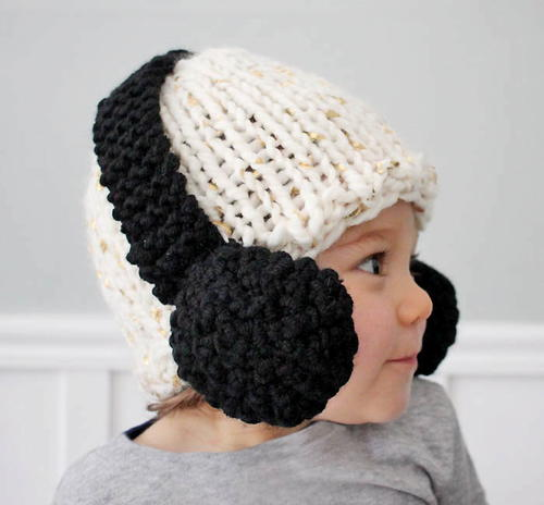Headphones Baby Hat Pattern | AllFreeKnitting.com