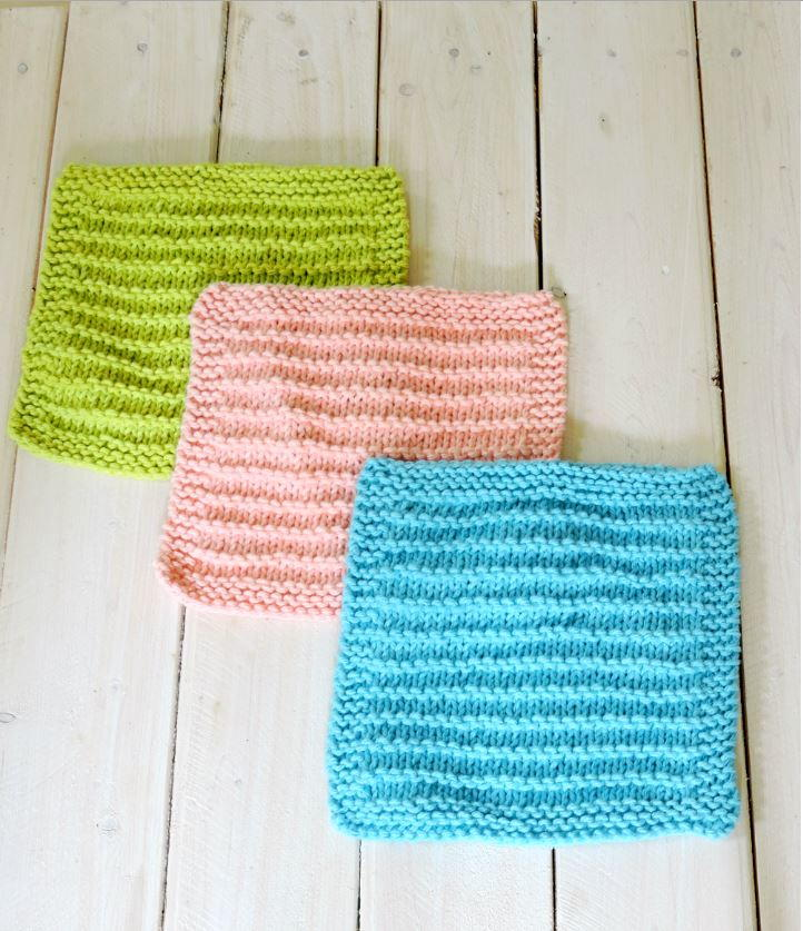 Easy Farmhouse Kitchen Dishcloths | AllFreeKnitting.com