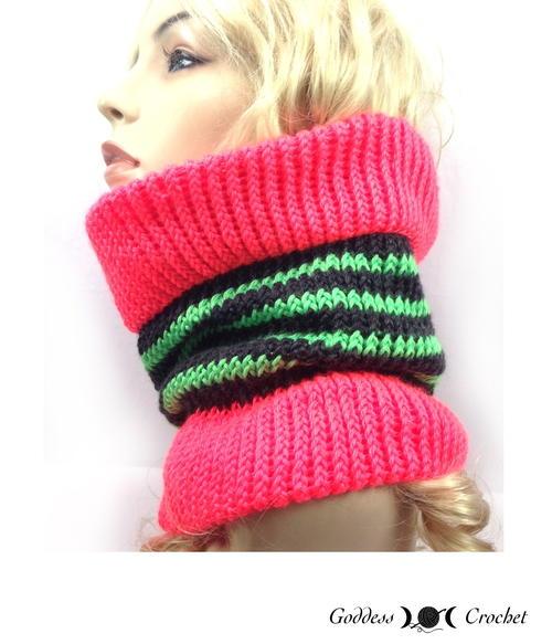 Loom Knit Cowl Allfreeknitting
