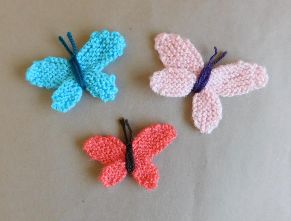Adorable Easy Knitted Butterflies | AllFreeKnitting.com