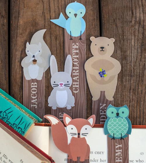 Printable Woodland Creature Bookmarks