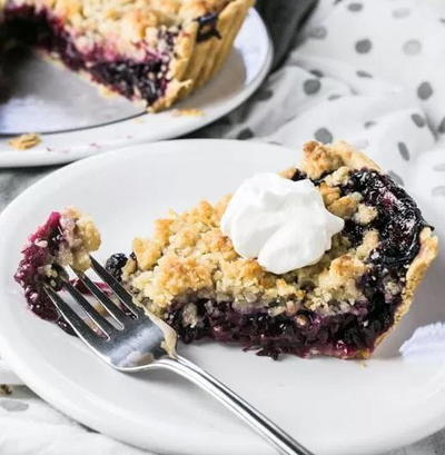 Blueberry Pineapple Pie with Coconut Topping