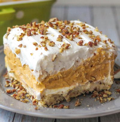 Pumpkin Pudding Mix Dessert Lasagna