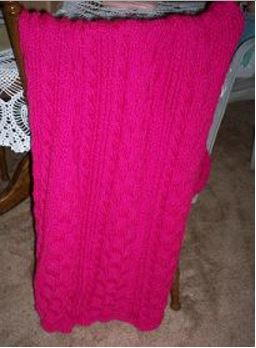 Hot Pink Shawl Pattern