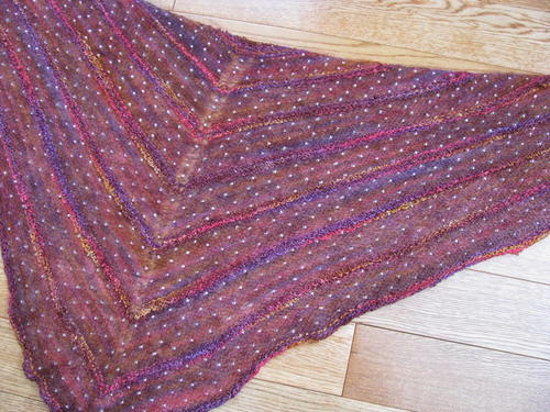 Bohemian Beaded Mohair Shawl