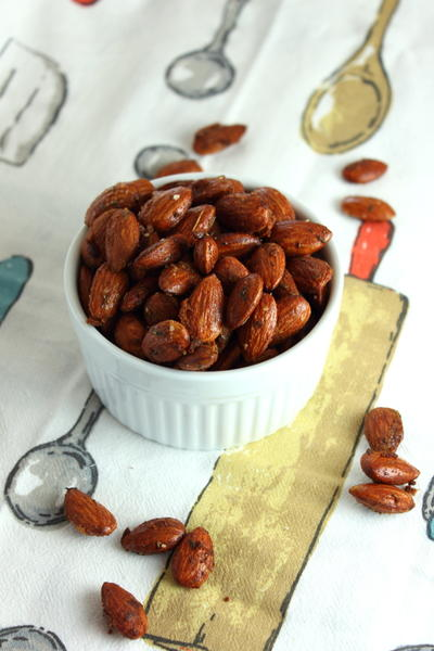Honey Mustard and Thyme Roasted Almonds