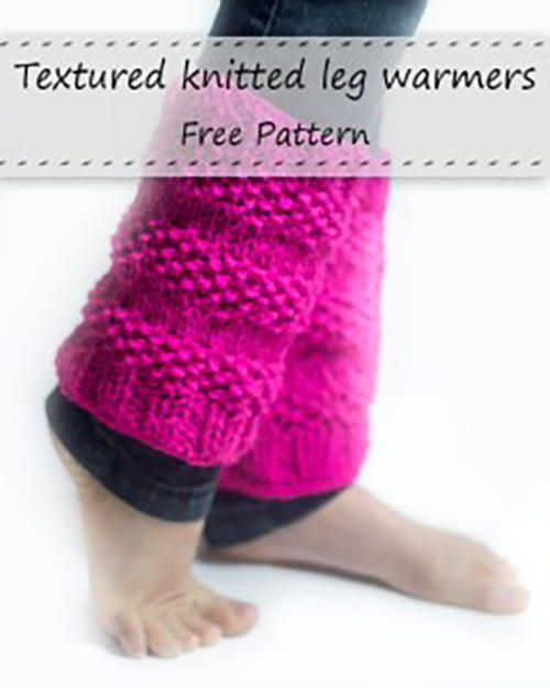 Textured Knitted Leg Warmers Allfreeknitting