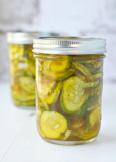 Easy Lower Sugar Bread and Butter Refrigerator Pickles