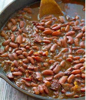 Barbecue Slow Cooker Baked Beans