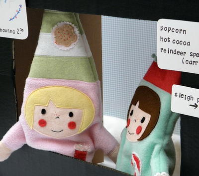 Friendly Christmas Elf Hand Puppets